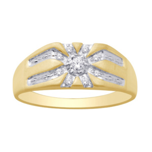 10K 0.09-0.10CT D-RING MEN RDS