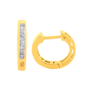 10K 0.15CT D-EARING LDS BAG HOOPS