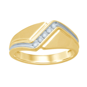 10K 0.09-0.10CT D-BAND RING MENS RDS