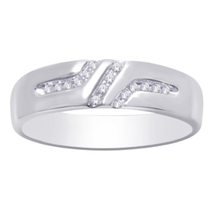 10K 0.07-0.09CT D-RING BAND MEN'S RDS