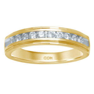 14K 0.48-0.51CT D-BAND RING MEN RDS