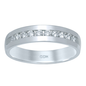 14K 0.48-0.53CT D-BAND RING MEN RDS MACHINE  BAND