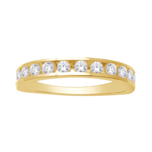 14K 0.46-0.51CT D-MACHINE BAND RING LDS RDS