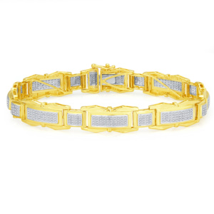 10K 1.00CT D-BRACELET MEN RDS MP