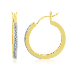 10K 0.10CT D-HOOP EARRING RDS MP