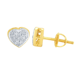 10K 0.05CT D-EARRING RDS LDS MP HEART
