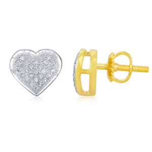 10K 0.15CT D-EARRING RDS LDS MP HEART