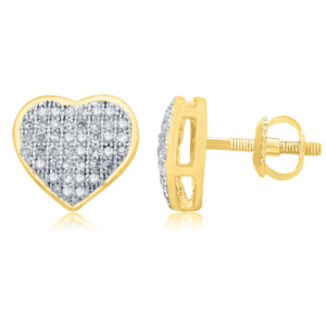10K 0.25CT D-EARRING RDS LDS MP HEART