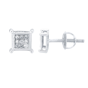 10K 0.05CT D-EARRING RDS MP SQUARE