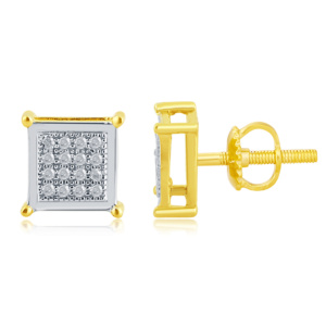 10K 0.10CT D-EARRING RDS MP SQUARE