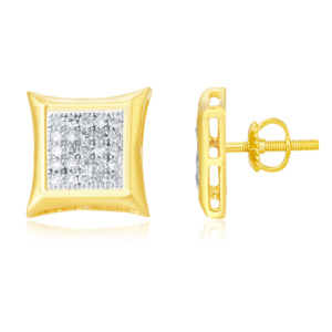 "925 SS 0.15CT D-EARRING RDS MP "" KITE """