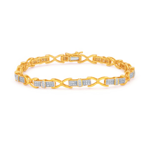 10K 0.35CT D-BRACELET LDS RDS MP