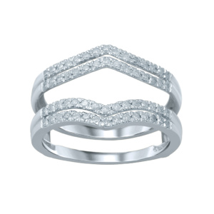 14K 0.34-0.36CT D-RING GUARD LDS RDS