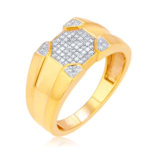 10K 0.20CT D-RING MENS RDS MP