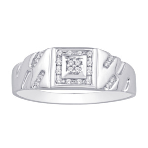 10K 0.12-0.13CT D-RING MEN RDS