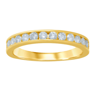 14K 0.47-0.55CT D-RING BAND MACHINE LDS RDS 16 STONES