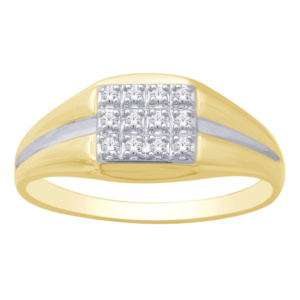 10K 0.12-0.13CT D-RING MENS RDS
