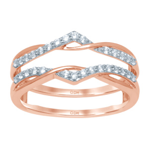 14K 0.24-0.29CT D-RING GUARD LDS RDS