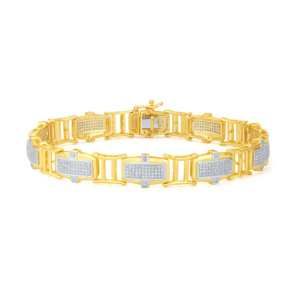 10K 1.40CT D-BRACELETE MENS RDS MP