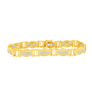 10K 0.66CT D-BRACELETE MENS RDS MP