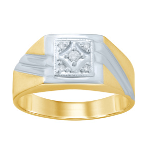 10K 0.06CT D-RING MENS MENS