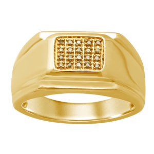 10K 0.10-0.12CT D-RING MENS RDS CAN