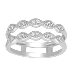 10K 0.14CT D-RING GUARD RDS LDS