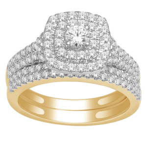 14K 1.00CT D-BRIDAL SET RDS CNTR 0.18CT