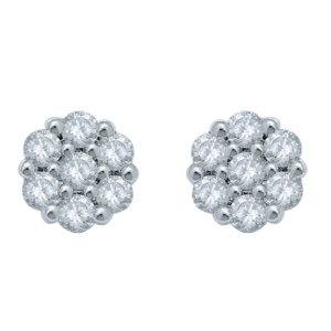 10K 1.47-1.53CT D-EARRING RDS 'FLOWER'