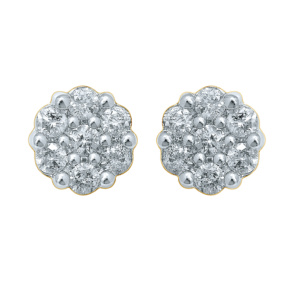 10K 0.47-0.50CT D-EARRING RDS 'FLOWER'