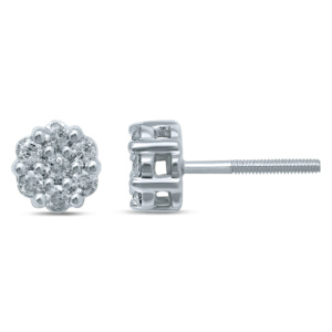 10K 0.32-0.36CT D-EARRING RDS 'FLOWER'