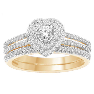 "14K 0.50CT D-BRIDAL SET RDS  ""CERTIFIED"" CNTR 0.15CT"