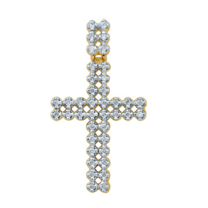 10K 0.25CT D-PENDANT MEN RDS
