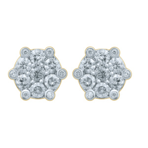 10K 1.48CT D-EARRING RDS MENS