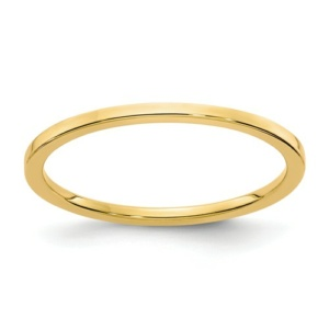 14K Gold 1.2mm Flat Stackable Band
