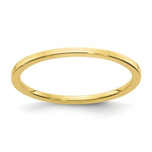 10K Gold 1.2mm Flat Stackable Band