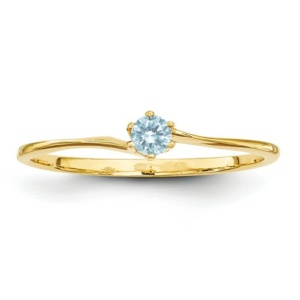 14k 3mm Synthetic Family Jewelry Ring