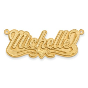 14k Satin Diamond-Cut 3D Name Plate