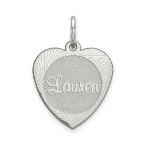 10k White Gold Heart Disc Name Plate - Flyer Pg. 4