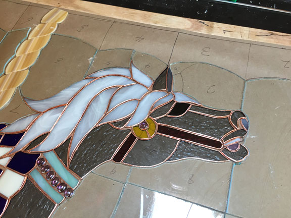 Stained glass in progress