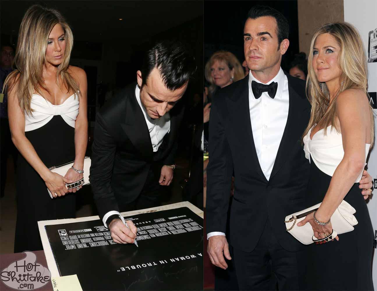 Justin Theroux and Jennifer Aniston Matching
