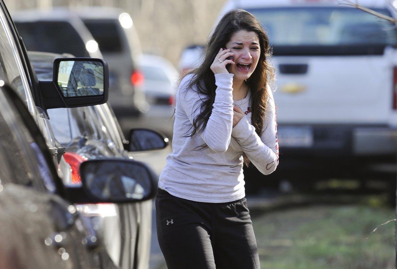 Girl Crying Sandy Hook Shooting