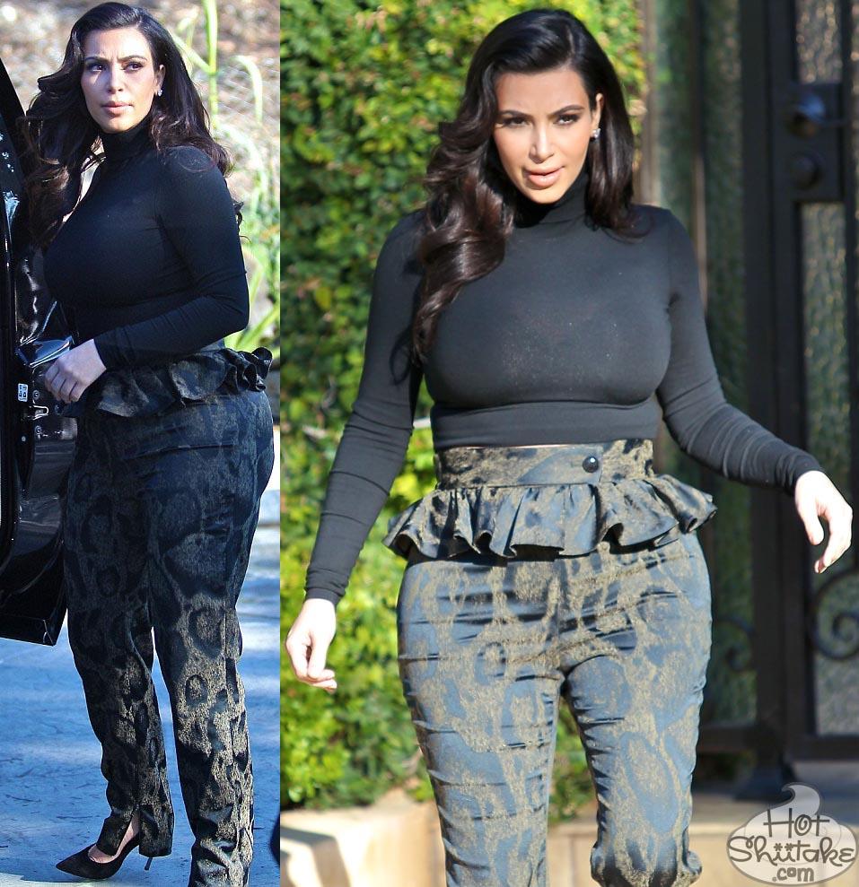 Kim Kardashian Peplum Pants