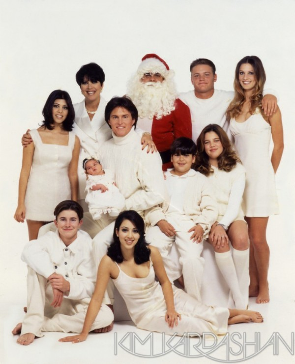 Kardashian Family Christmas Cards 1995