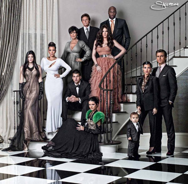 Kardashian Family Christmas Cards 2010