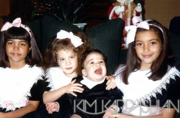 Kardashian Family Christmas Cards 1988
