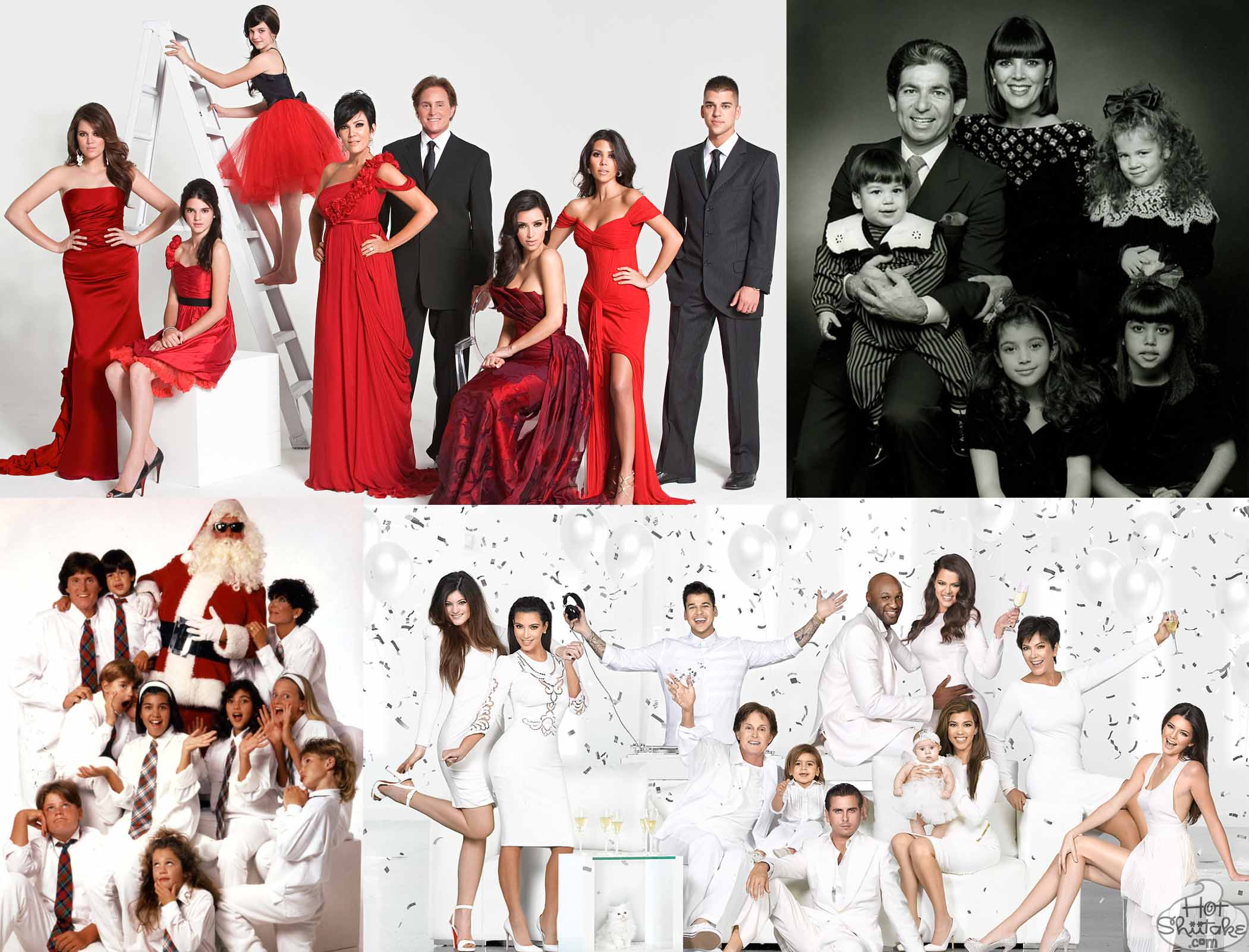 Kardashian Family Christmas Cards Over The Years