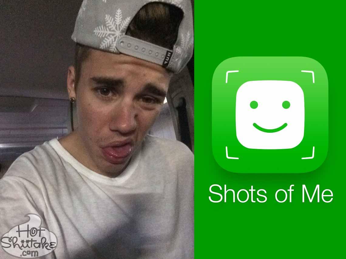 Justin Bieber Selfie App Shots Of Me