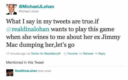 Dina Lohan Michael Lohan Feud