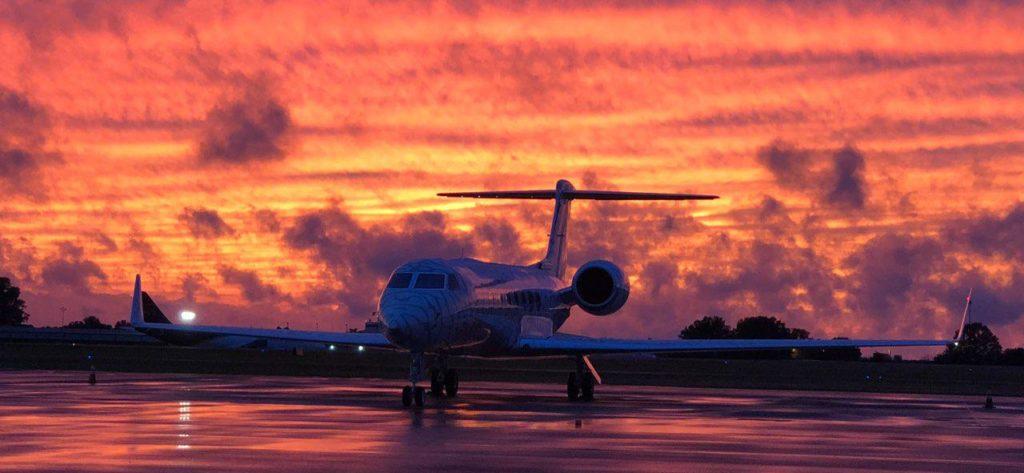 Gulfstream at Sunset